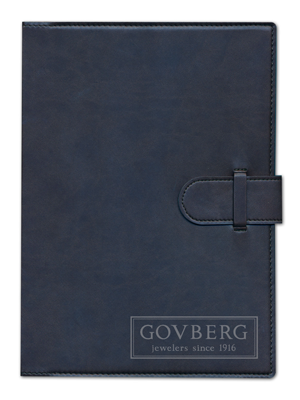 Navy journal with Govberg debossed logo